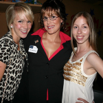 The author as Sarah Palin with friends.