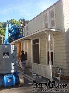 The Myers house under construction. Photo provided by Universal Studios Hollywood.