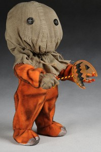 "Sam, the Spirit of Halloween, first appeared in a 1997 short film before starring in the 2008 feature film ""Trick R Treat"""