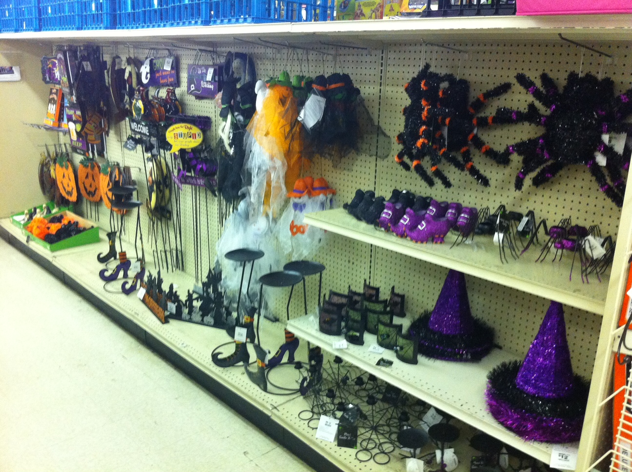 Aisle At Big Lots Stocked With More Halloween Stuff