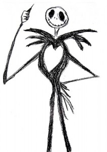 Drawing of Jack Skellington by frostnova, used under a Creative Commons license.