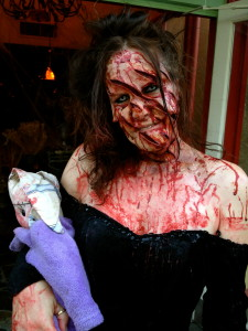 Mauled woman outside Fright Feast with the Willoughby's