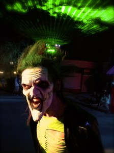 The Riddler slider made sparks fly in the City Under Siege Scare Zone