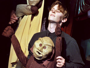 """Andrew Bourgeois is a puppeteer in """"The Cats of Ulthar"""" in LOVECRAFT: NIGHTMARE SUITE. (photo credit: Jeremy Andorfer)"""