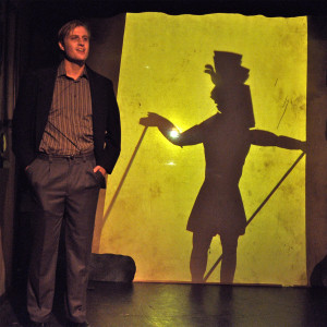 "Daniel Jimenez recounts the story of ""Nyarlathotep""  in LOVECRAFT: NIGHTMARE SUITE. (photo credit: Jeremy Andorfer)"