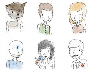 """""""Werewolf"""" cards designed by Max Temkin."""