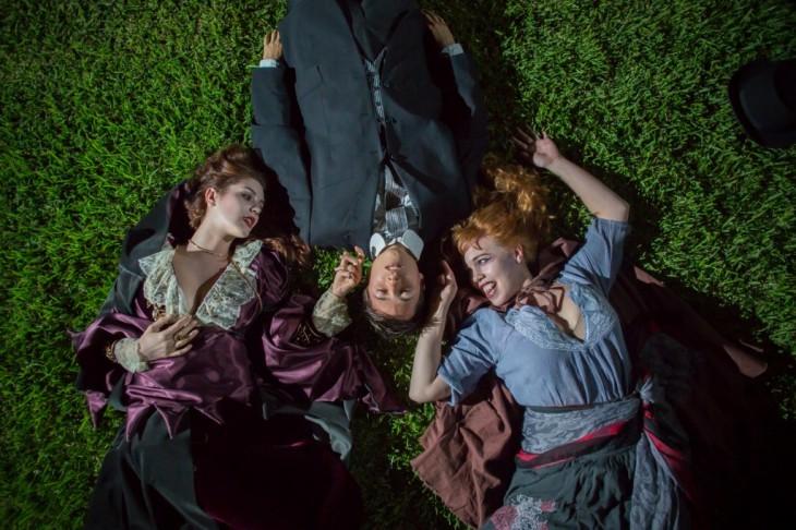 """Dracula's Guest"" – McKenzie Eckels, Eric Keitel and Angie Hobin. (Photo by Daniel Kitayama.)"