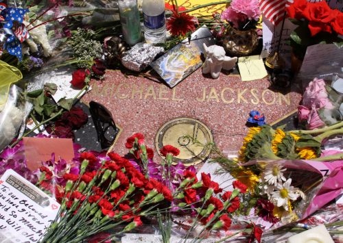 Michael Jackson's star on the Walk of Fame – 6927 Hollywood Blvd., Hollywood, CA