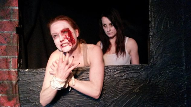"""A very Grand Guignol moment in """"Blood Alley."""""""