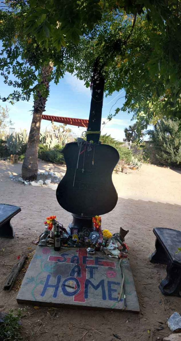 Gram Parsons memorial outside room #8 at the Joshua Tree Inn