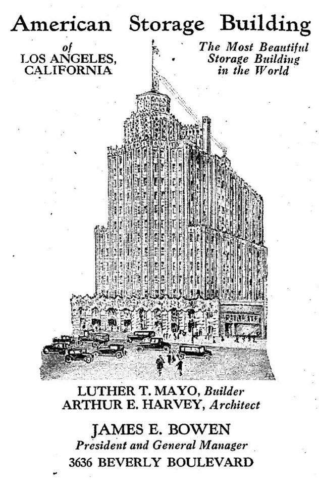 1928 LA Times print ad